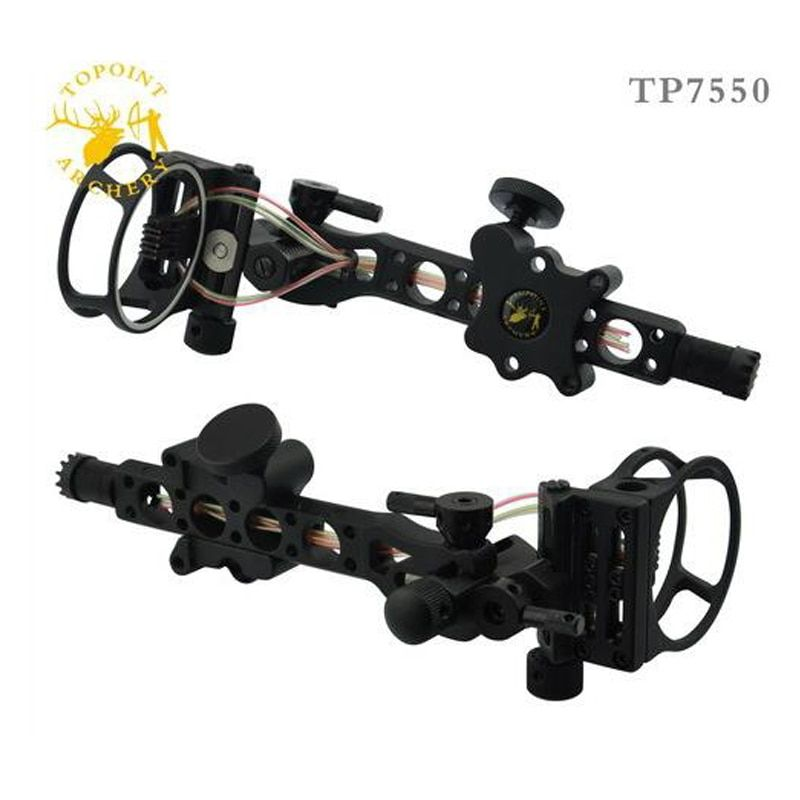 Free shipping 5 pins .019 Bow Sight with Micro Adjust Detachable Bracket, Sight Light - Black for compound bow archery 1pcs/Lot