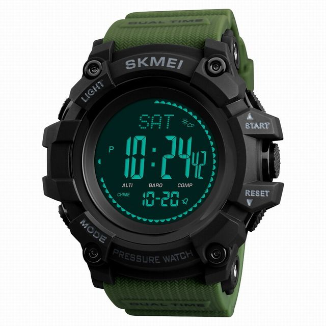 SKMEI Mens Sports Watches Brand Outdoor Digital Watch Hours Altimeter Countdown Pressure Compass Thermometer Men Wristwatches