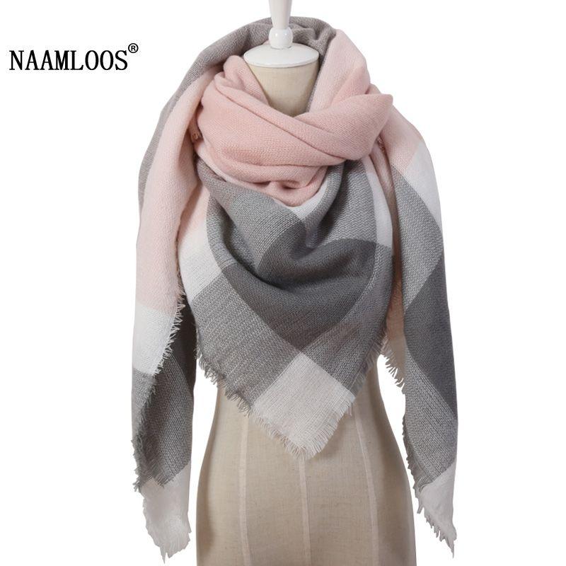2019 hiver Triangle écharpe pour les femmes marque Designer châle cachemire Plaid écharpes couverture chaude et douce livraison directe OL082