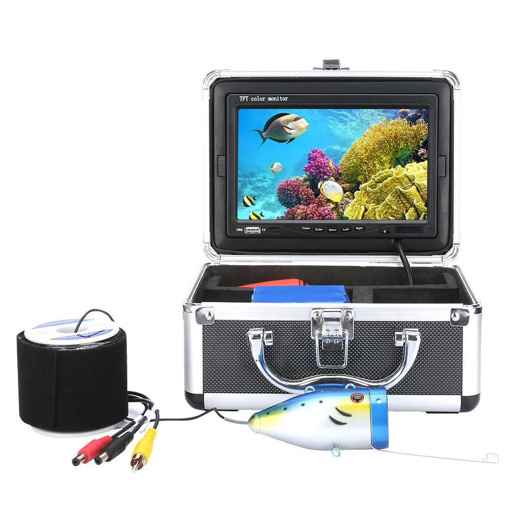 Professional 20M 30M 7 Color Digital LCD 1000TVL Underwater Fishing Camera Fish Finder HD DVR Recorder Infrared IR LED lights