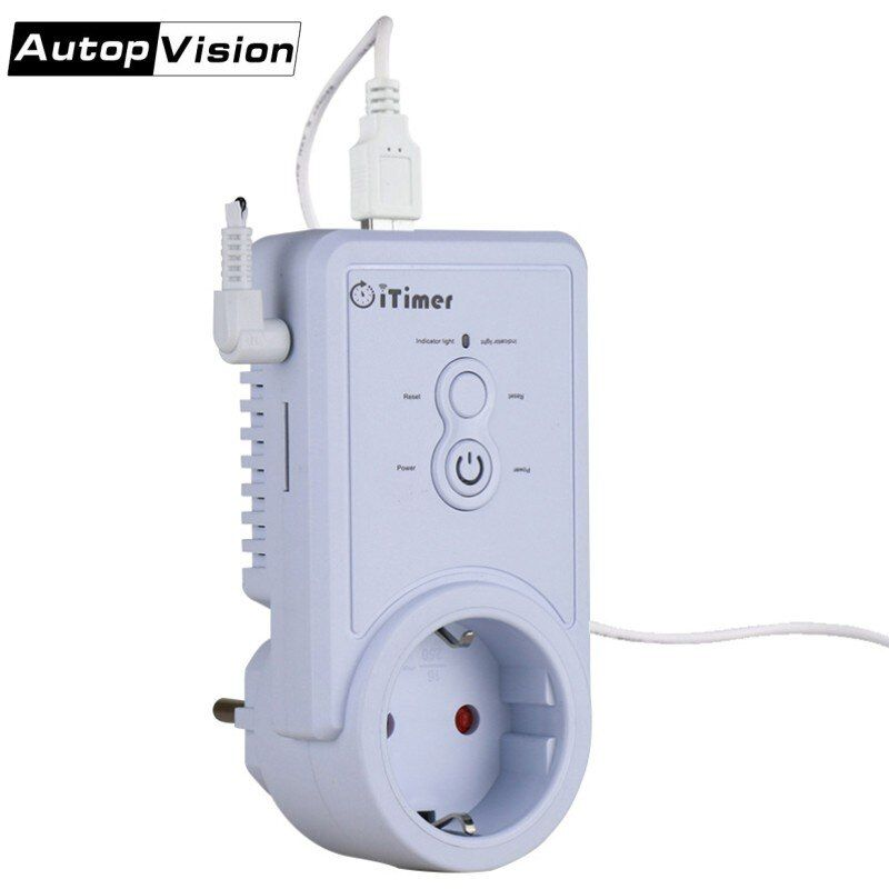 GSM Smart Power Plug Socket Wall Switch Outlet With Temperature Sensor Russian English SMS Control support USB Output SIM Card