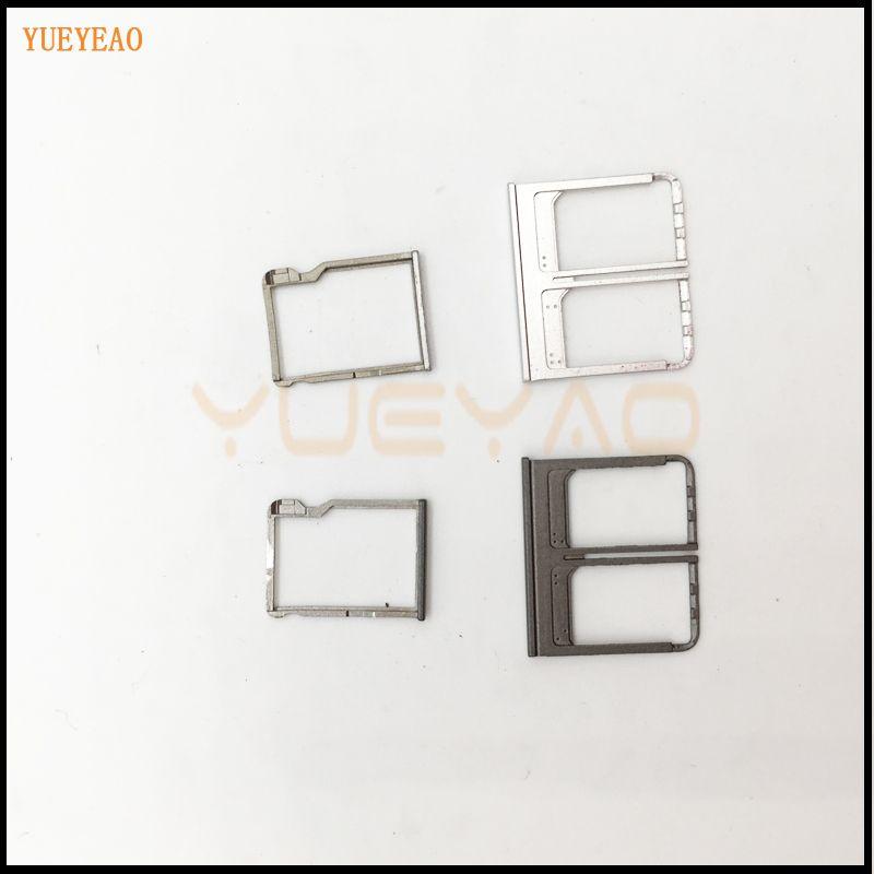 YUEYAO SIM Card Tray Fente de Support Micro SD Carte Mémoire Titulaire remplacement Pour HTC One M8 Double E8 Sim Plateau Pièces De Rechange
