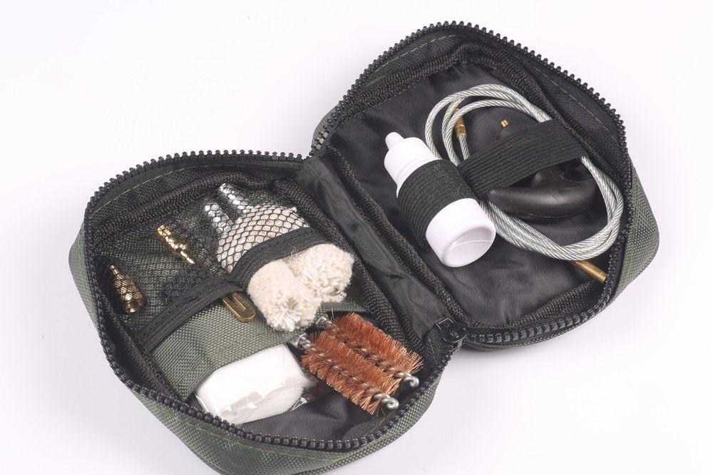 1 satz Tasche Pistole Pistole Reinigung Kit Set Nylon Tasche Stange pinsel Pistole reinigung für Universal 12ga 20ga. 22cal. 17cal. 223/5. 56 Gewehr
