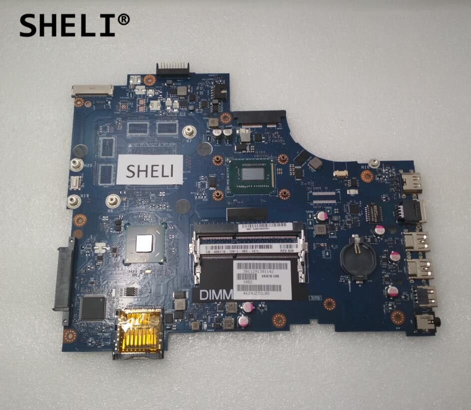 SHELI Für Dell 3721 5721 Motherboard mit I3-3217U LA-9102P CN-00KC18 00KC18 0KC18