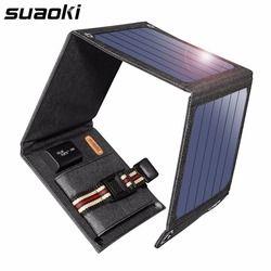 Suaoki SunPower 14 w Solaire Cellules Chargeur 5 v 2.1A USB Périphériques de Sortie Portable Panneaux Solaires pour Smartphones Ordinateur Portable