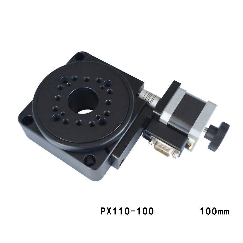 Electric Rotating Machine Optical Rotating Platform Motorized Rotation Stage 100mm bearing scale PX110-100