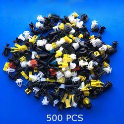 500 PCS Campuran Auto Kendaraan Mobil Bumper Klip Retainer Fastener Keling Pintu Panel Fastener Fender Kapal Universal Cocok untuk Semua mobil
