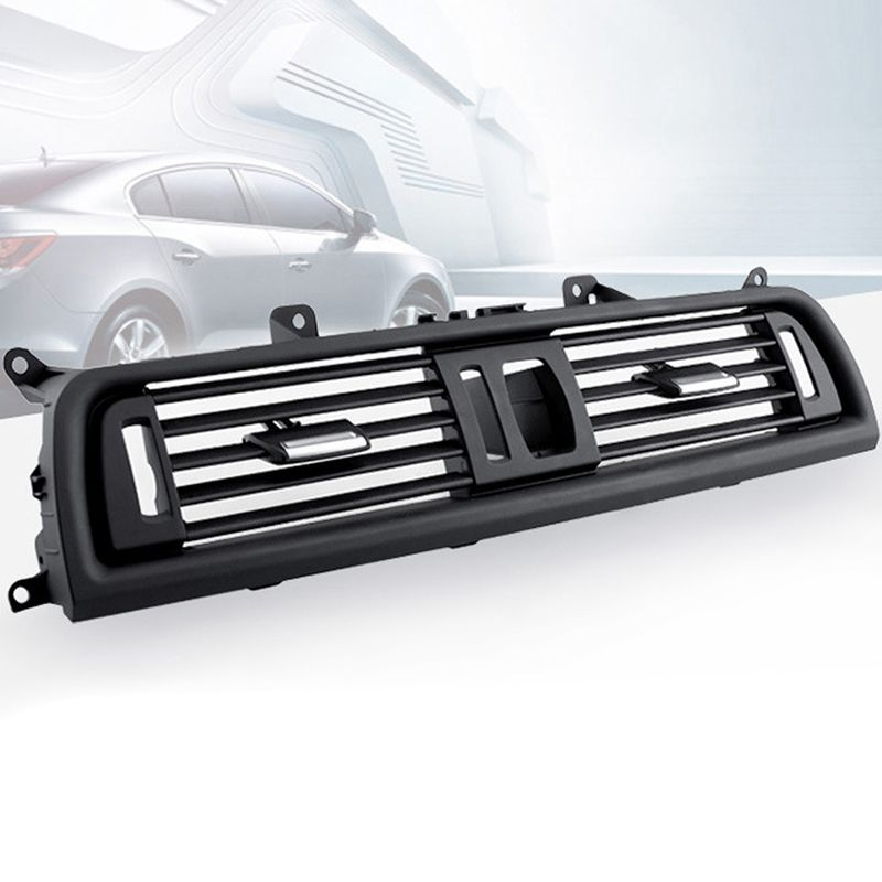 Car Styling Black ABS Center Fresh Air Outlet Vent Grille Front Dash Panel Grill Cover for BMW 5 F18 F10