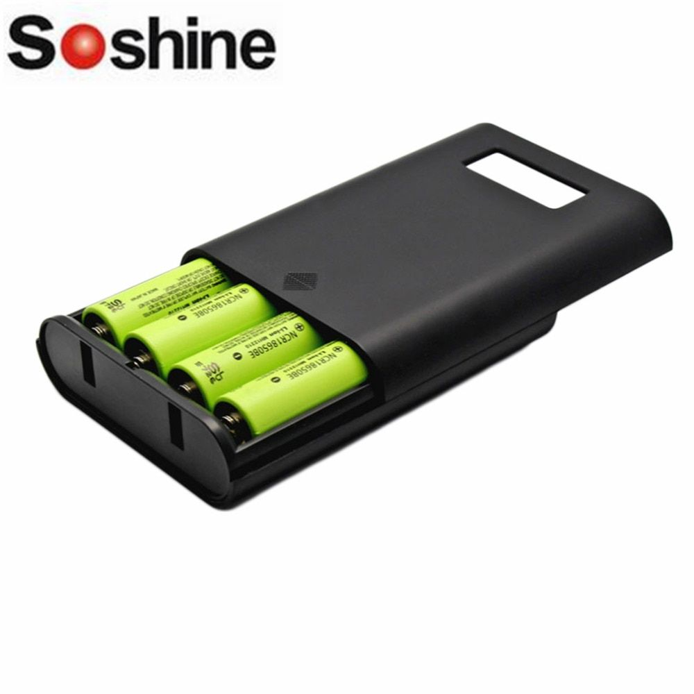 Soshine E3S LCD Display Replaceable Batteries Power Bank Professional Charger For 4 Pieces 18650 Batteries Black High Quality!