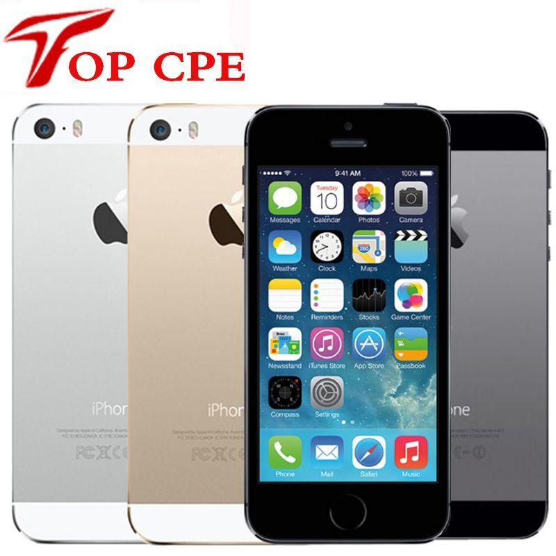 5S Factory Unlocked Original Apple iPhone 5S 16GB/32GB/64GB ROM 8MP Touch ID iCloud App Store WIFI GPS 4.0 inch Fingerprint IOS