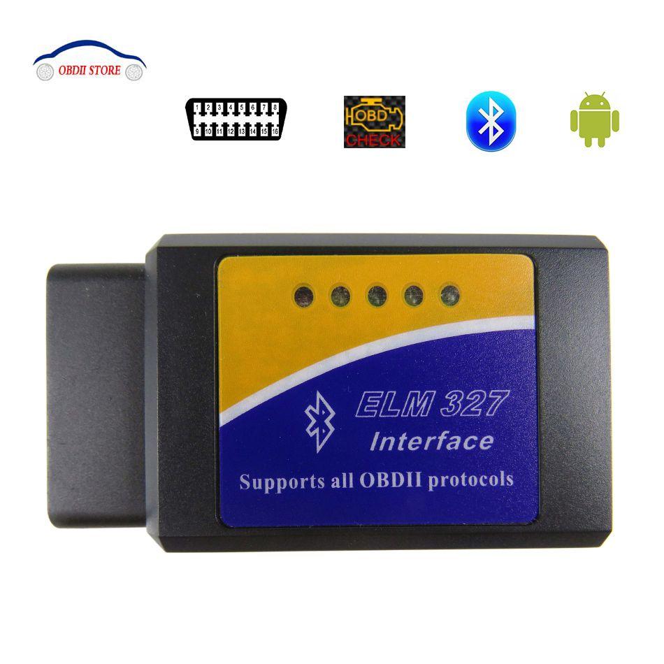Nouveau ELM327 V1.5 Bluetooth OBD2 OBDII Scanner de Diagnostic automatique ELM 327 V 1.5 OBD 2 Scanner pour outil de Diagnostic de voiture couple Android