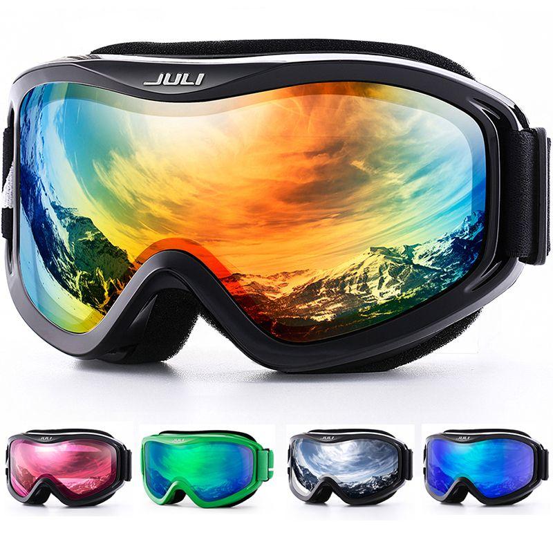 Skibrille, Schnee Sport Snowboard Über Brille mit Anti-fog UV Doppel Objektiv für Männer Frauen & jugend Snowmobile