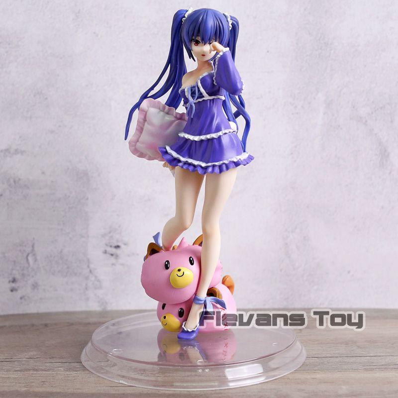 Anime Black Heart Hyperdimension Neptunia Noire Action Figure Model Noire Pajamas Bolster Dolls Collection Figurine