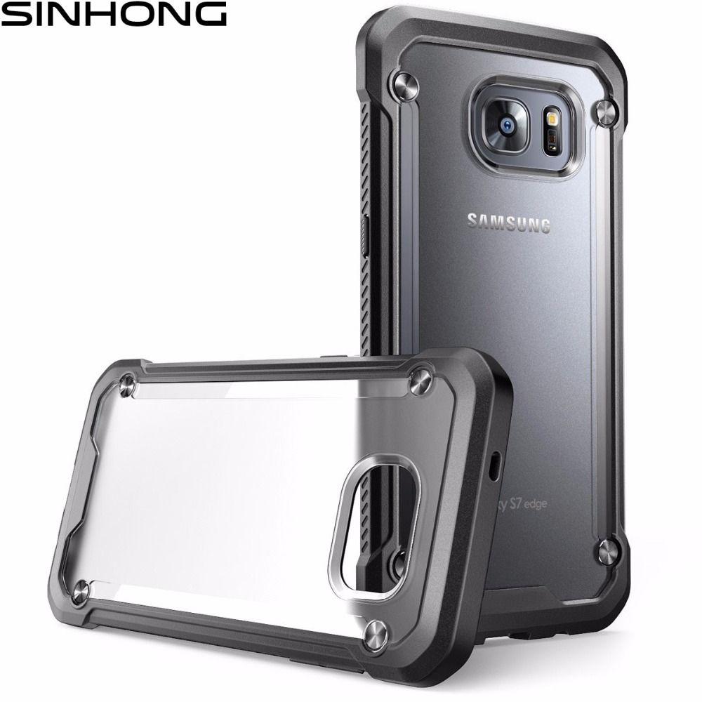 Antichoc Case Transparent Pour Samsung Galaxy S7 Bord S8 Plus Note 8 Couverture Silicone Pare-chocs Armure Dur Retour Clair Robuste givré