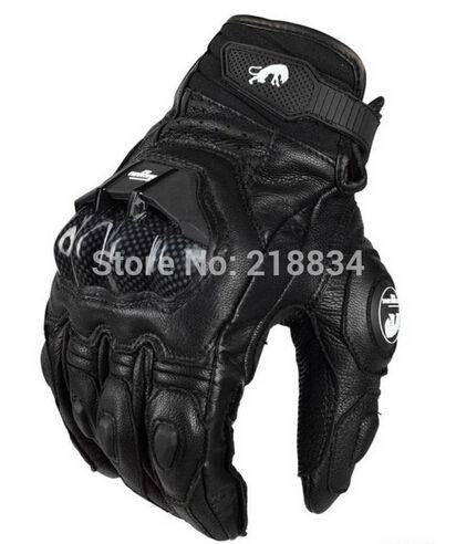 Livraison gratuite afs6 gants de moto gants de course gants de cyclisme en cuir véritable Cool moteur gants M L XL