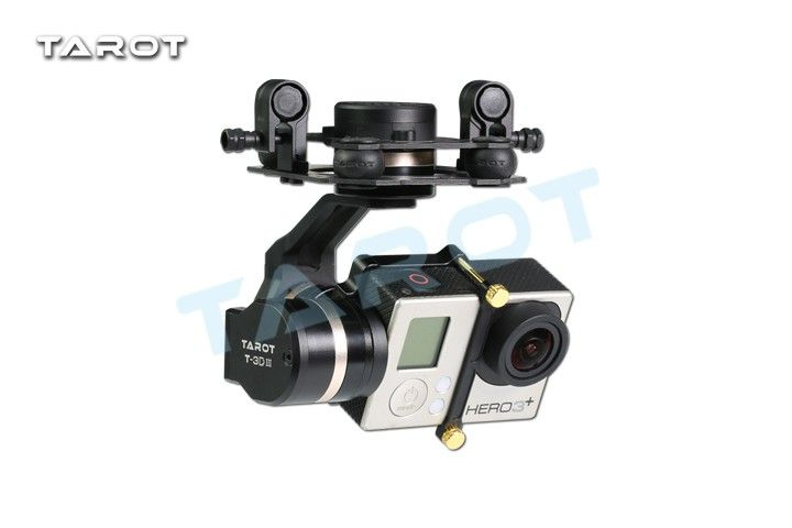 Tarot TL3T01 Update from T4-3D 3D Metal 3-axis Brushless Gimbal for GOPRO 4 3+3 FPV Photography F17391