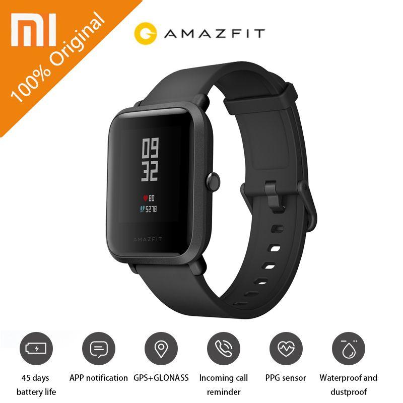 Original Xiaomi Youth Edition Smart Watch GPS GLONASS Bluetooth 4.0 Heart Rate Monitor IP68 Waterproof Android 4.4 IOS 8