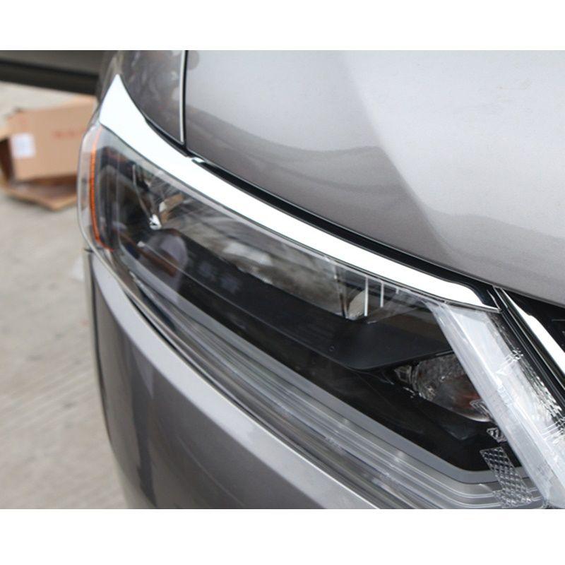 ABS Feux De Voiture Sourcils Couverture Décoration Autocollants Adapté Pour Nissan X trail x-trail T32 2014 2015 2016 De Voiture accessoires