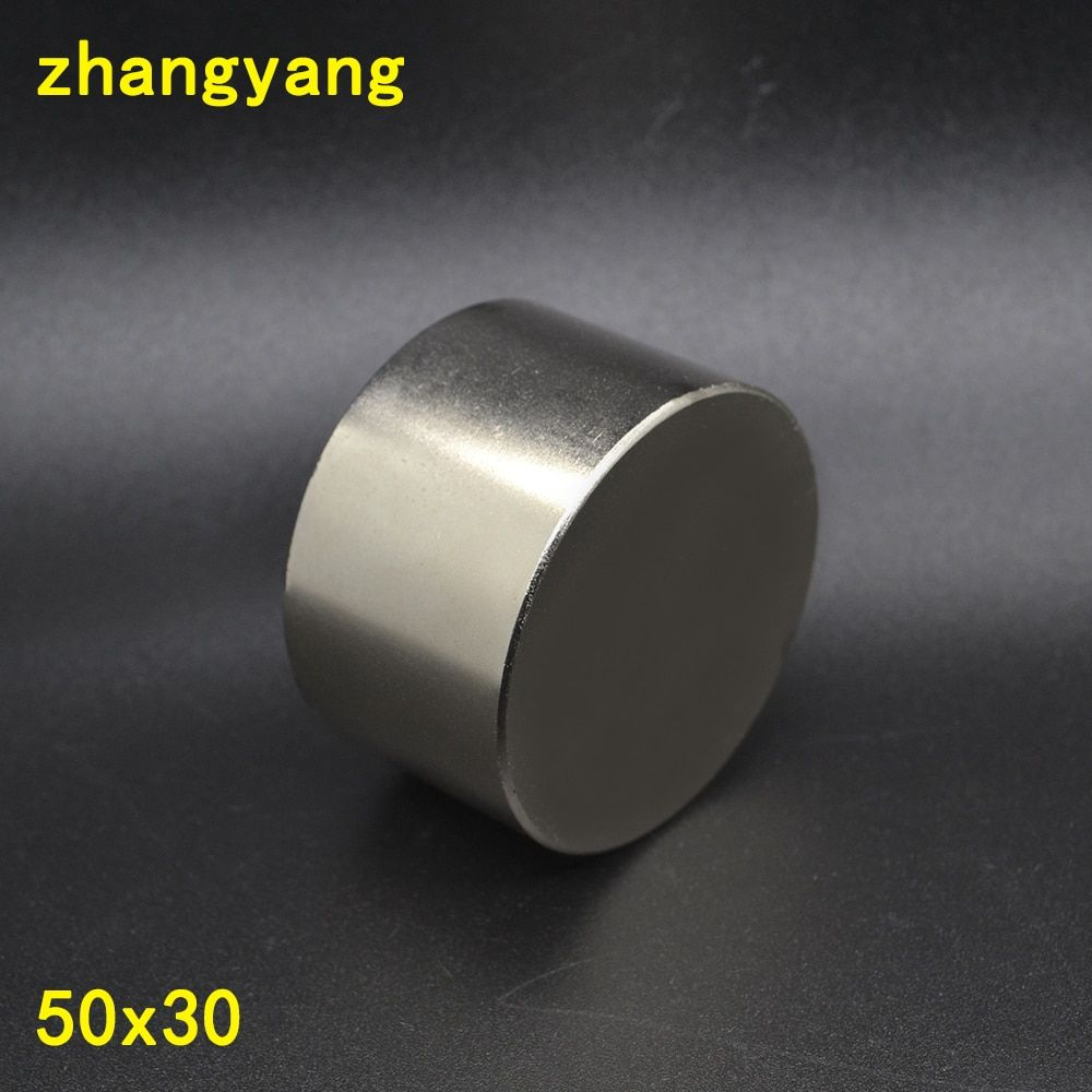 Aimant 1 pcs/lot N52 Dia 50x30mm chaude ronde aimant Forte aimants Rare Earth Néodyme Aimant 50 x 30mm gros 50*30mm