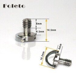 free shipping Captive 1/4 Folding D-Ring Adapter Screw Cam Tripod Monopod Quick Release Plate