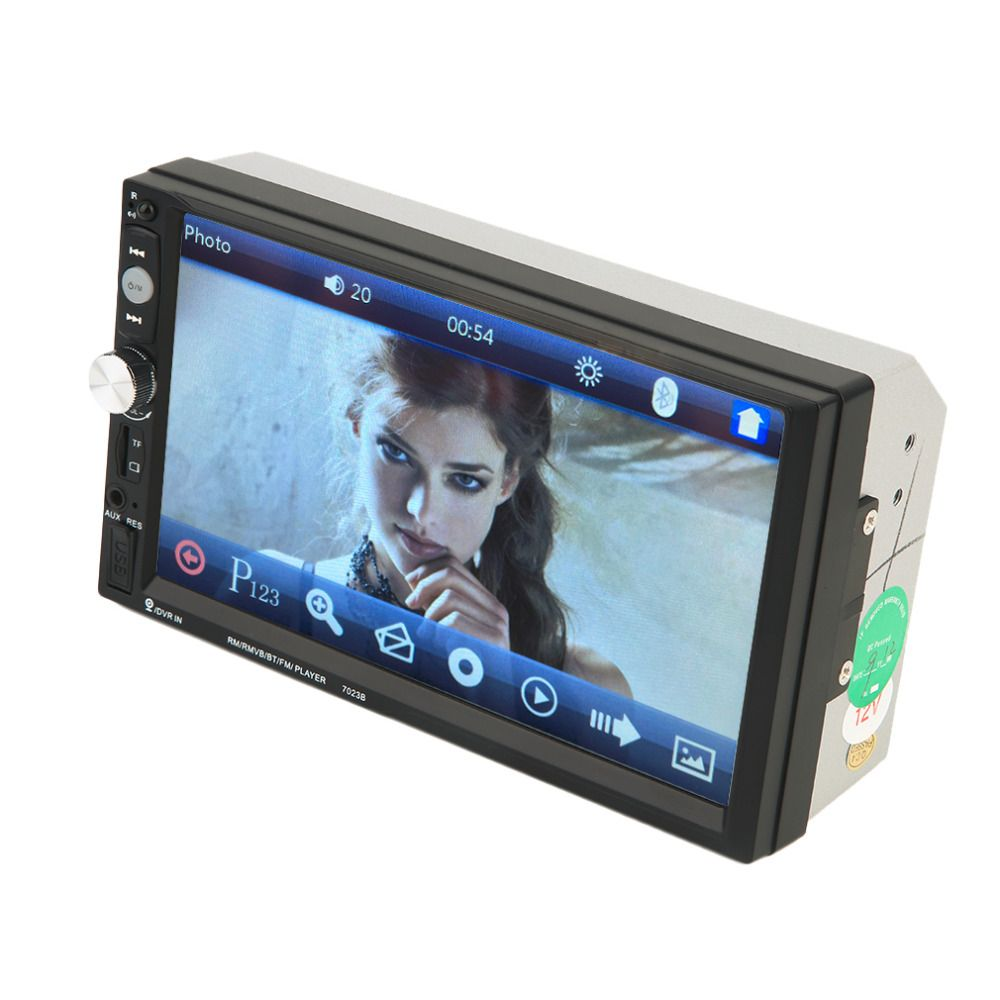High Quality 7023B Auto Car Double Din Car DVD Player 7 Inch Touch Scrren Media Radio Bluetooth Player Rear View Camera Input