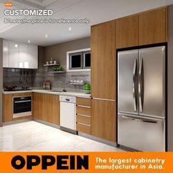 2016 Австралия проект Меламина отделка деревянный Кухня шкафа индивидуальные Кухонные шкафы op16-m02