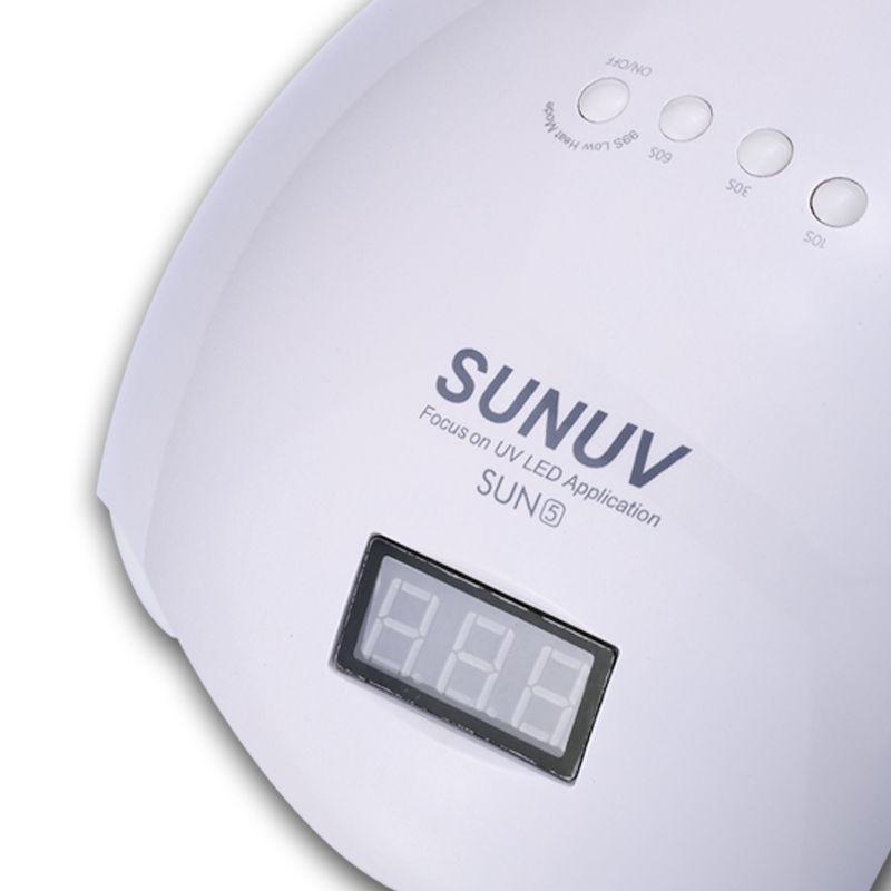 SUNUV SUN5 48 watt Display & Sensor Professionelle LED & UV Lampe Für Gel Maschine Infrarot Sensor Timer Set Gel alle UV Gel Nagellack