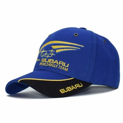 2017 Men cap for subaru F1 Racing Cap Cotton Male Sports Motorcycle Racing Baseball Caps Car snapback Hats Blue bone