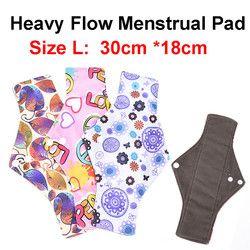 30 cm * 18 cm Femmes Hygiène féminine Sanitaires Pad Réutilisable Lavable Panty Liner Bambou Mama Tissu Menstruel Sanitaire À Langer serviette Pad