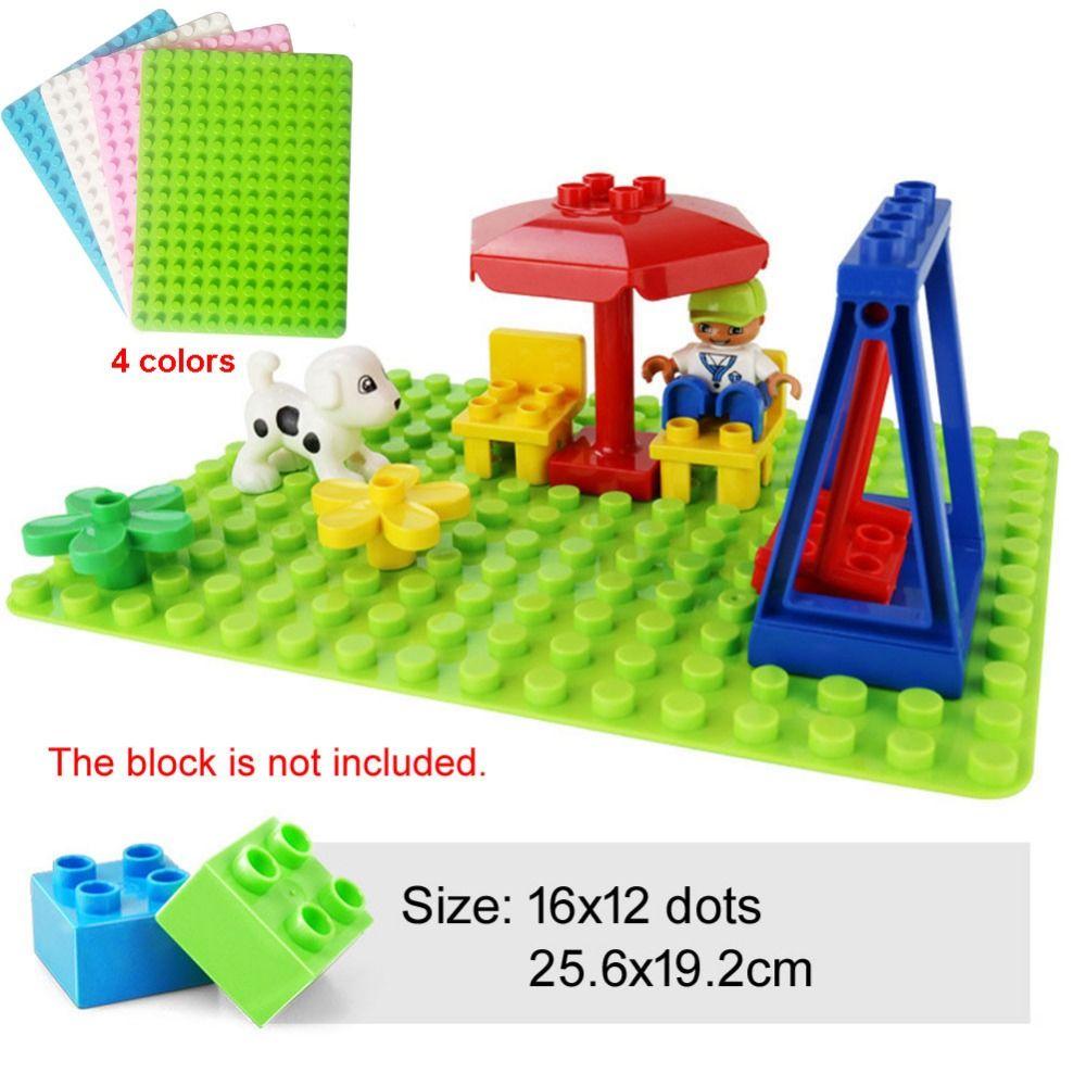 192 Big Dots 12x16 Big Baseplate compatible Duplo DIY Base Plate MOC Building Block Loose Brick 19*25cm