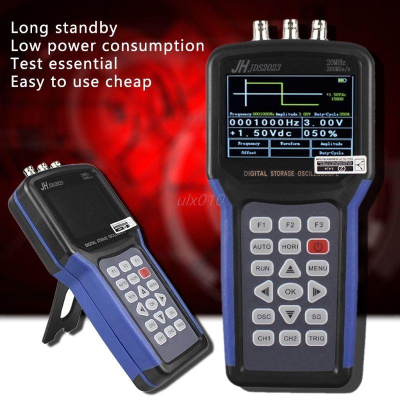JDS2023 Digital Handheld Oscilloscope 1 Channels 20MHz oscilloscope S09 Drop ship