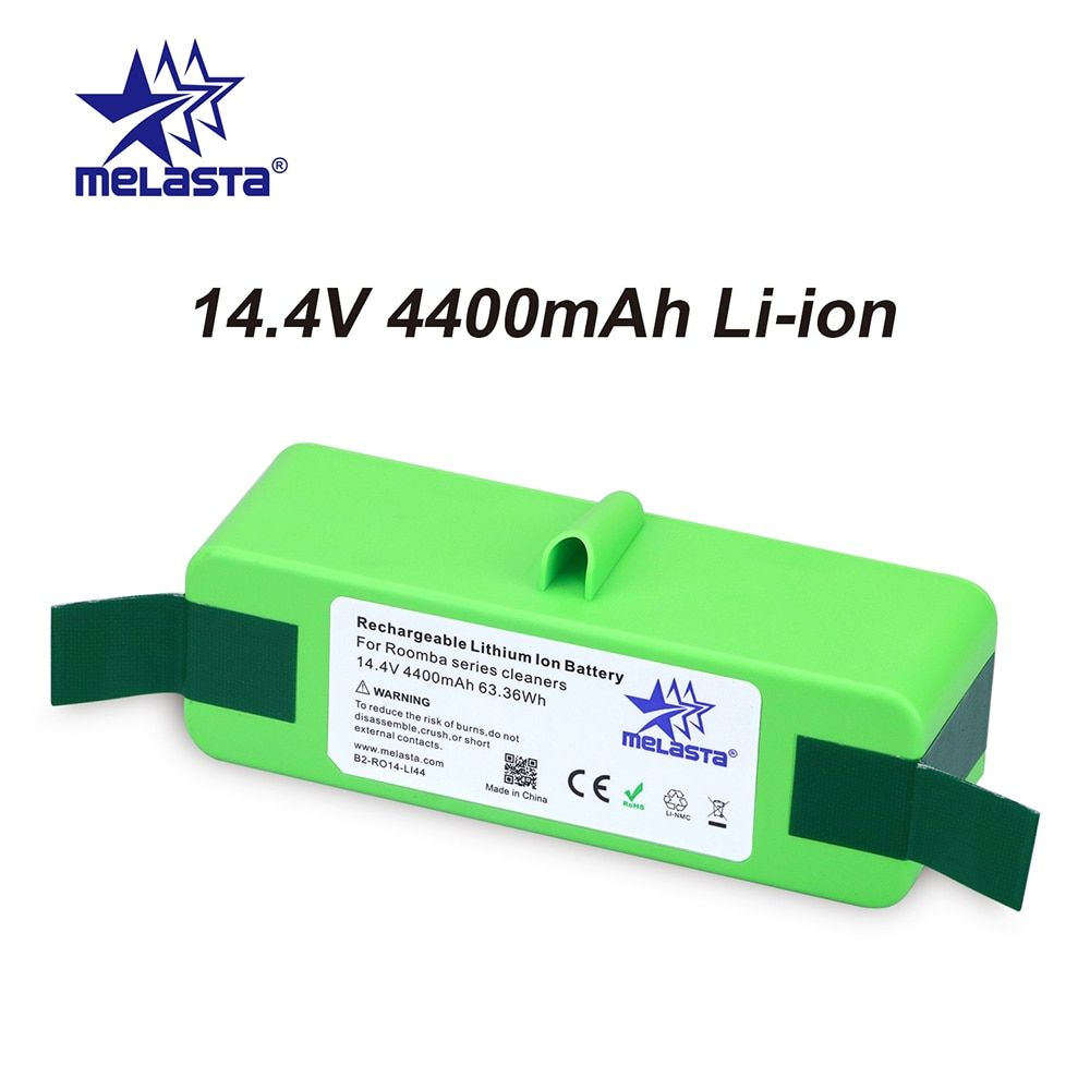 4.4Ah 14.4V Li-ion Battery with Brand Cells for iRobot Roomba 500 600 700 800 Series 510 530 550 560 650 770 780 790 870 880 R3