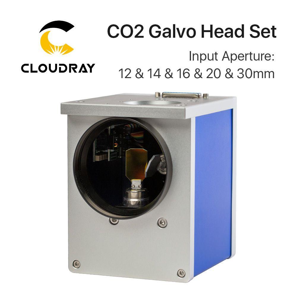 Cloudray CO2 Laser Scanning Galvo Kopf 10.6um Eingang Blende 10mm 12mm 16mm 20mm 30mm Galvanometer scanner mit Netzteil