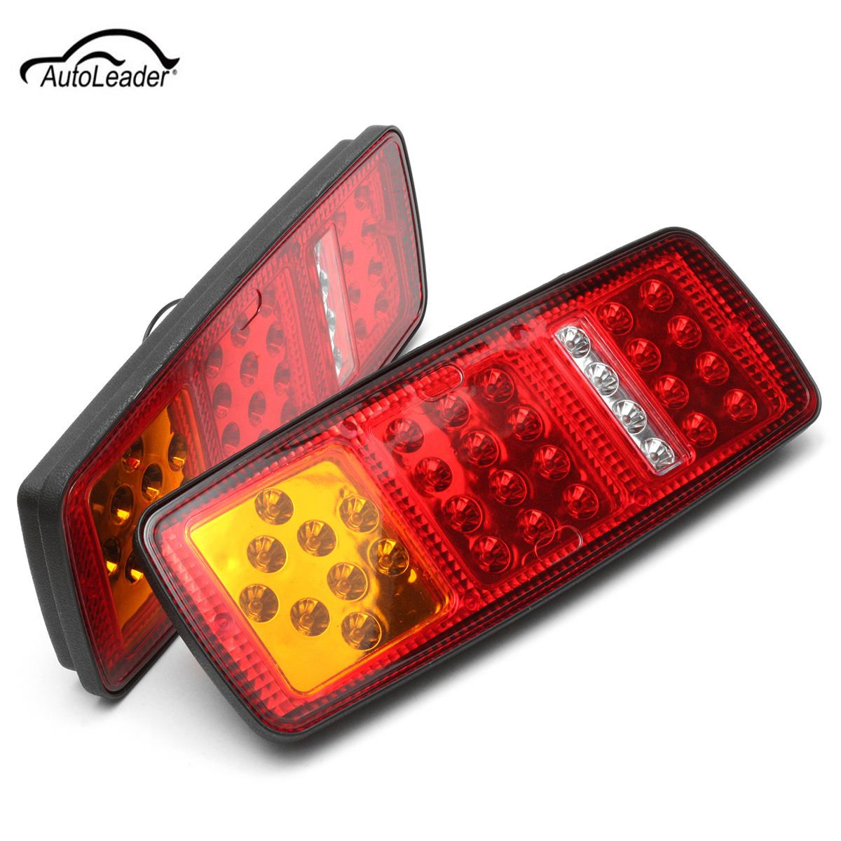 Pair LED Trailer Truck Bus Rear Stop Lamp for Van Stop Rear Tail Indicator Lights Reverse Lamp 12V