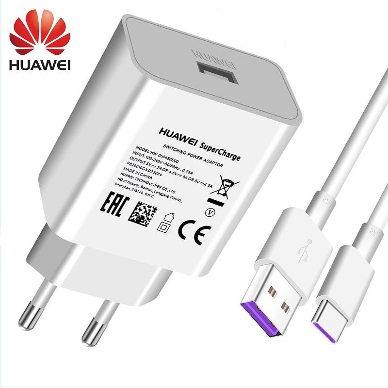 Chargeur rapide d'origine Huawei 4.5 V 5A pour Huawei P20 Pro P20 Lite Mate 10 Mate 20 Pro 5A Type c-cable