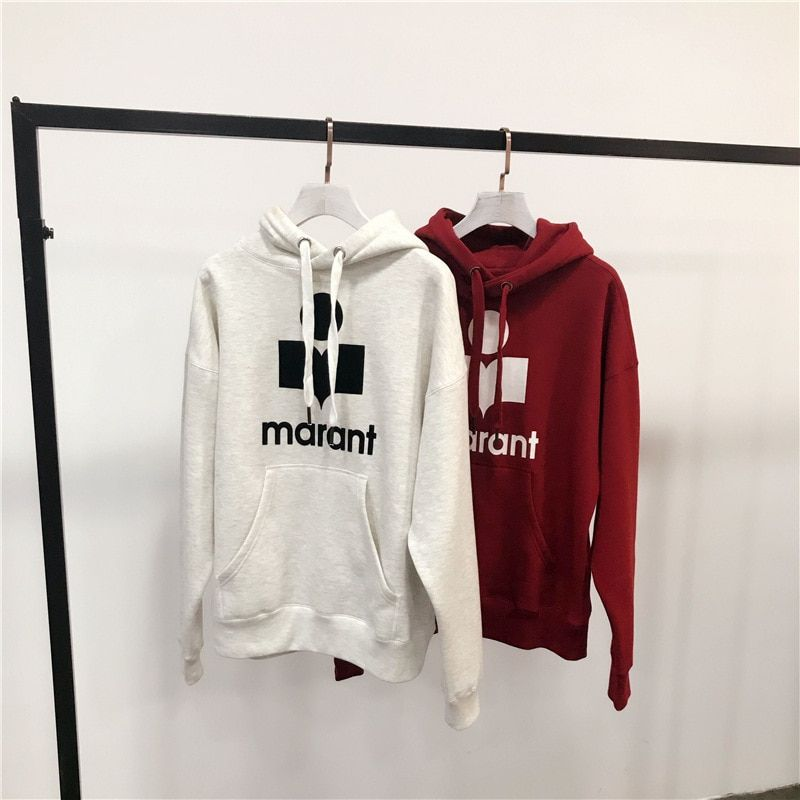 WISHBOP NEW 2017 Fashion Hooded Sweatshirt Front Letters Print Loose Pullovers with Drawstring hoodies Long sleeved front pocket