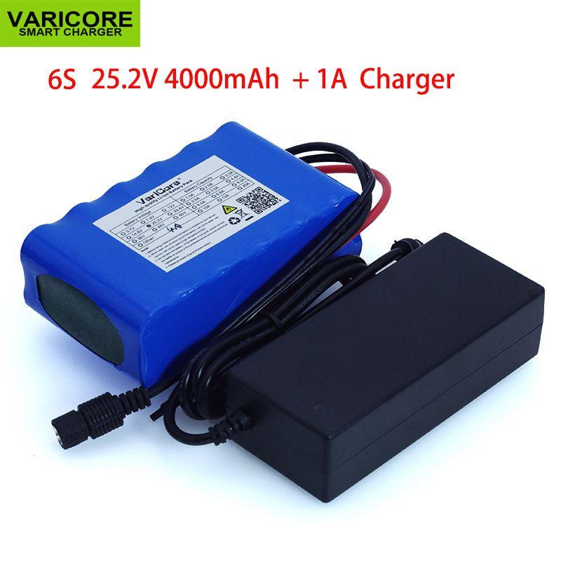 24 v 4Ah 6S2P 18650 Batterie li-ion batterie 25,2 v 4000 mah elektrische fahrrad moped/elektrische/lithium-ionen batterie pack + 1A Ladegerät