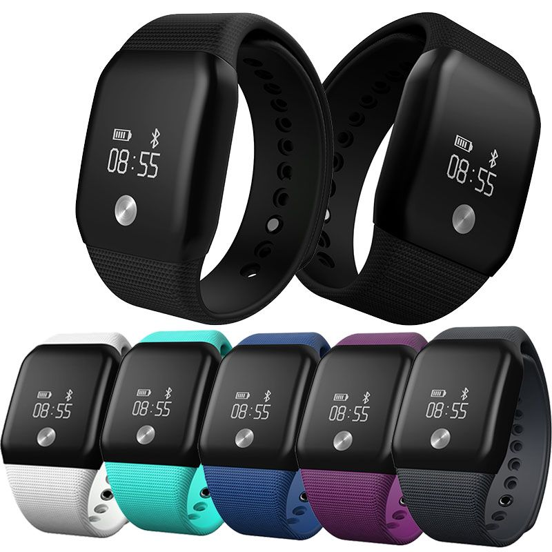 A100 Smart Bracelet Sport Pedometer SmartBand Heart Rate Fitness Watch Blood Oxygen Pressure Monitor Wristband For iOS Android