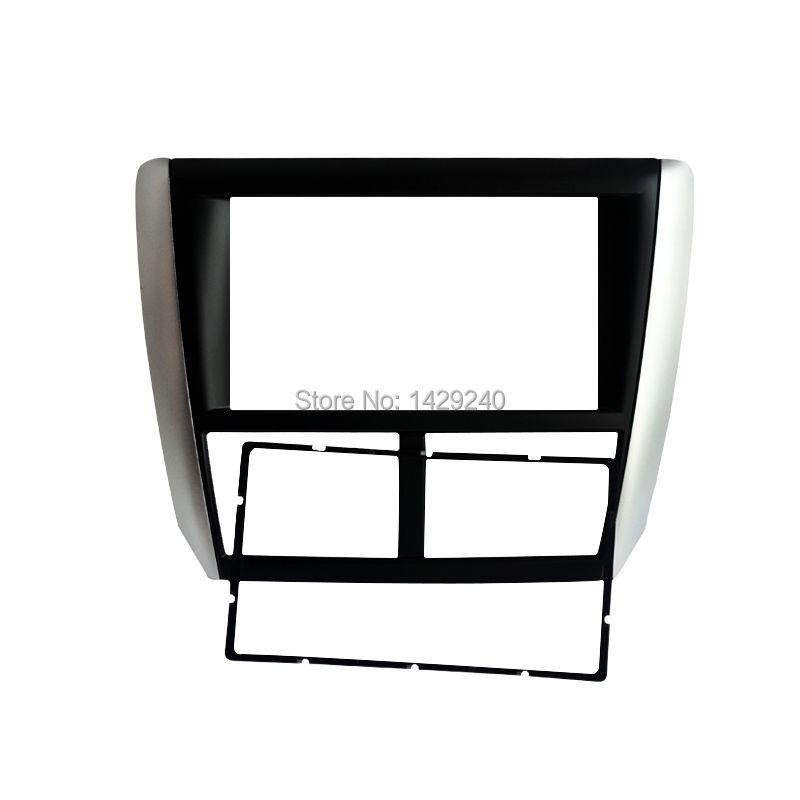 LEEWA 2 DIN Car Radio Fascia for Subaru Forester 2008-2012 Impreza 2007-2012 Stereo Fascia Dash CD Trim Installation Kit
