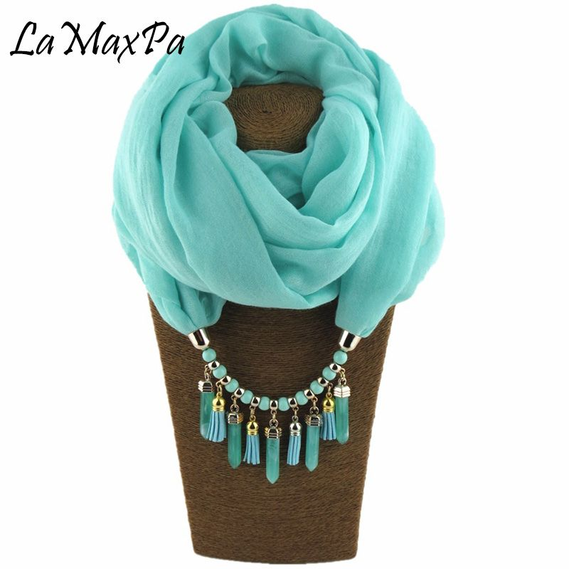 2018 The New pattern Solid Ring Scarf For Women ALL Seasons Elegant Pendant Scarf Female Jewelry Scarves Mujer Colgante Bufanda