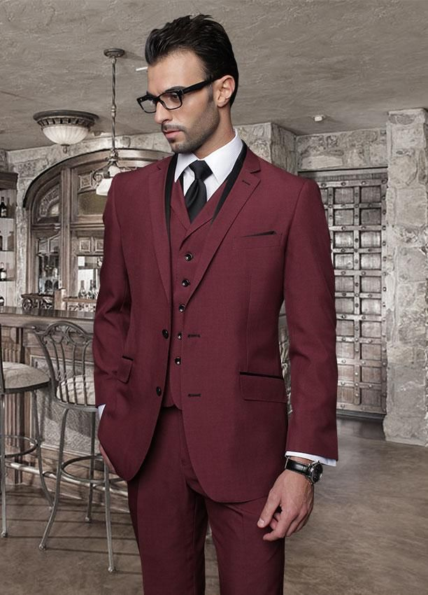 2017 Latest Coat Pant Designs Burgundy Men's Wedding Groom Suits Best Man Slim Fit Tailor Made Tuxedo 3 Pieces Masculino