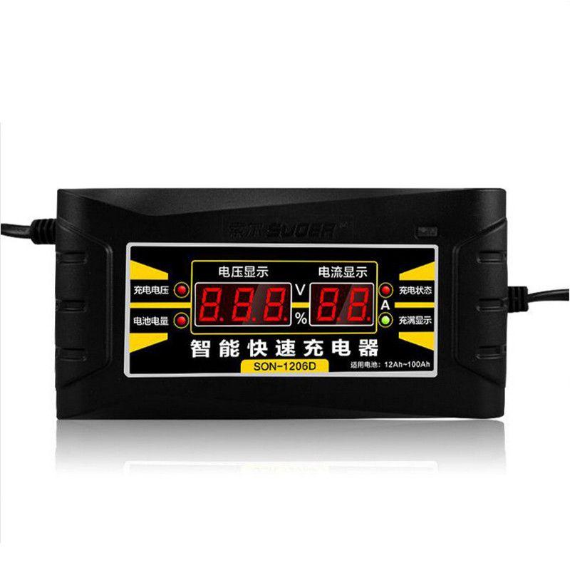 Entièrement Automatique Chargeur De Batterie de Voiture 110 V/220 V À 12 V 6A 10A Intelligent rapide Puissance De Charge Pour Humide Sec Au Plomb Numérique LCD Affichage