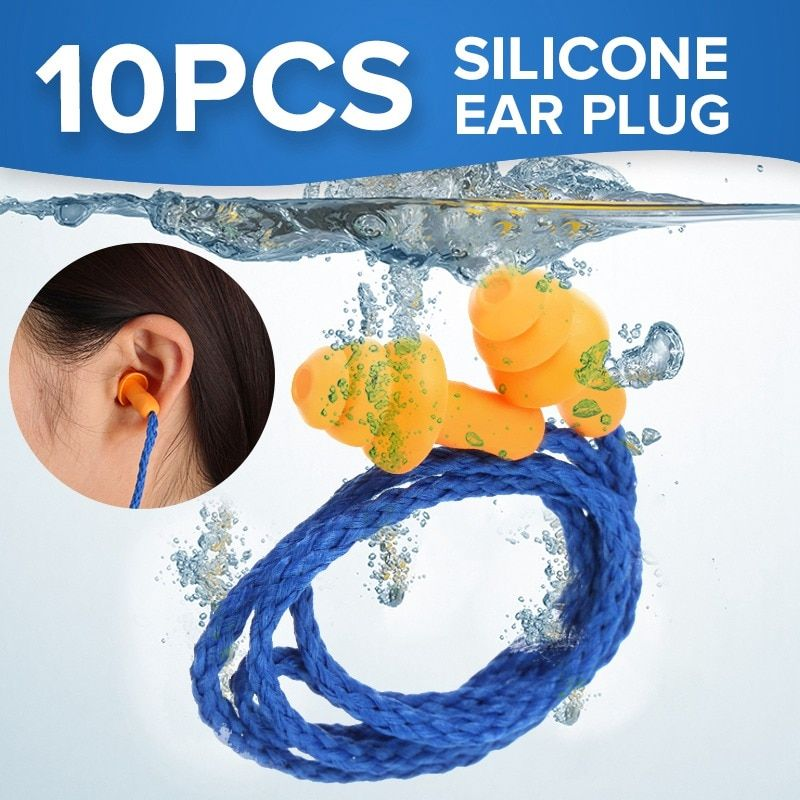 NEUE 10 stücke Weiche Silikon Corded Ohr Stecker ohren Schutz Wiederverwendbare Gehörschutz Lärm Reduktion Ohrstöpsel Ohrenschützer