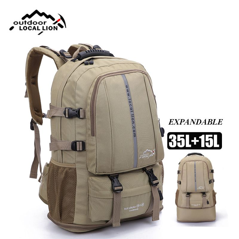 Adjustable Size Outdoor Sports Backpack Large Capacity Travel Rucksack Heavy Duty Bag Men and Women Camping Hiking Backpacks