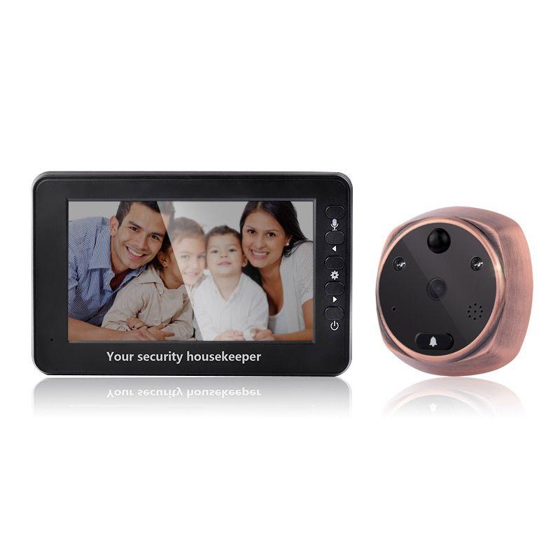 4,3 Zoll 3MP Türsprechanlage Türspion Viewer Bewegungserkennung Video-türsprechanlage