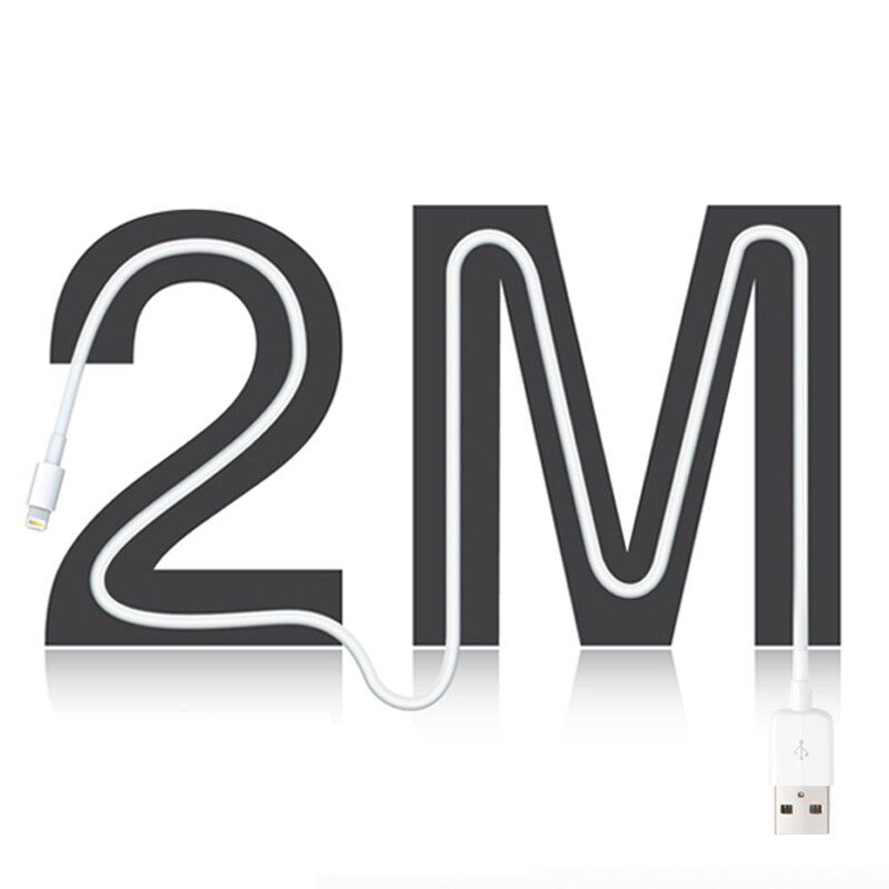 Snowkids 1.5 m 2 m USB Câble pour iPhone X 8 7 6 5 XR XsMax Jusqu'à iOS12