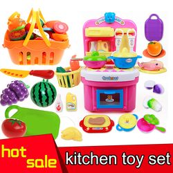 2016 Hot Selling Children Kitchen Toy set For Girls Cooking Toys  Kids Pretend Play Toys With Light music Effect Playing Toy
