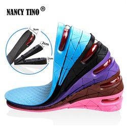 NANCY TINO Sigilo Ajustable Aumento de Plantillas Para Los Hombres Las Mujeres Pad Zapatos de Aumentar Altura Plantilla Negro Air Cushion Pad Ascensor Talón