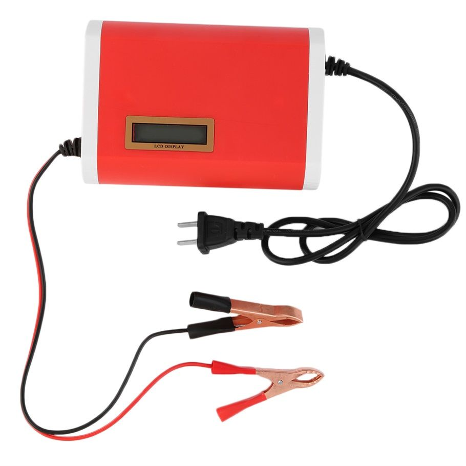 Compact Structure Light weight Intelligent 12V 6A Car Motorcycle Battery Charger for 12-Volt Sealed Lead-Acid US Plug