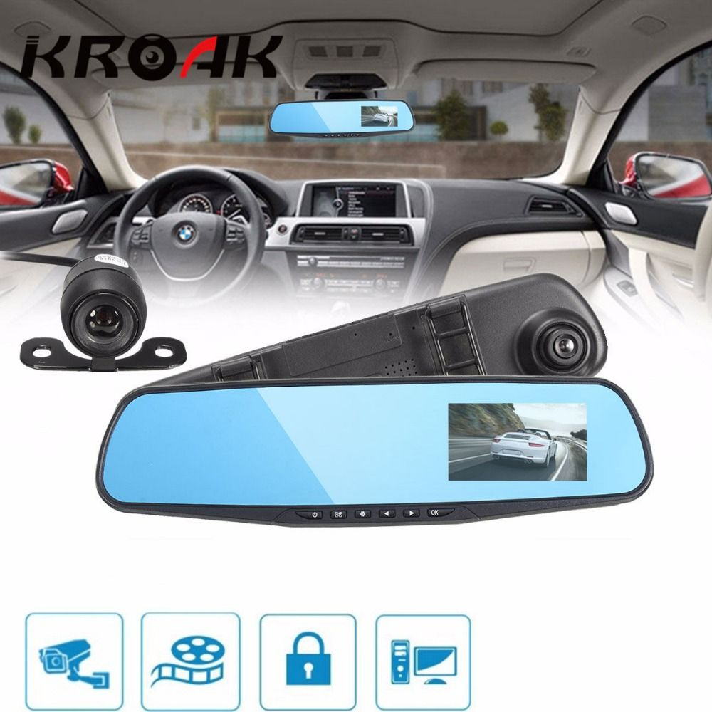 HD 1080P 3.8 Inch 140 Angle Night Vision Car Rear View Mirror Camera Dash Cam Video Recorder Reverse Backup Camera